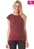 ZIMTSTERN Womens Glypho S/S T-Shirt ruby wine