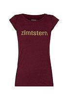 ZIMTSTERN Womens Logotype S/S T-Shirt ruby wine
