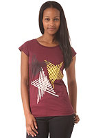 ZIMTSTERN Womens Stride S/S T-Shirt ruby wine