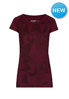 ZIMTSTERN Womens Strikes S/S T-Shirt ruby wine
