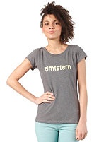 ZIMTSTERN Womens TSW Spray Logo S/S T-Shirt dark grey heather