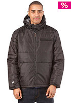 ZOO YORK Kew Hooded Puffer Jacket washed black