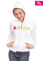 ZOO YORK Womens Core Hooded Zip Sweat white