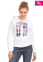 ZOO YORK Womens In Living Color Hooded Zip Sweat white