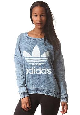adidas womens crew neck ft sweatshirt light acid wash on. Black Bedroom Furniture Sets. Home Design Ideas