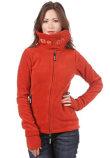 bench funnelneck fleece sweat sweatshirt damen rot pid. Black Bedroom Furniture Sets. Home Design Ideas