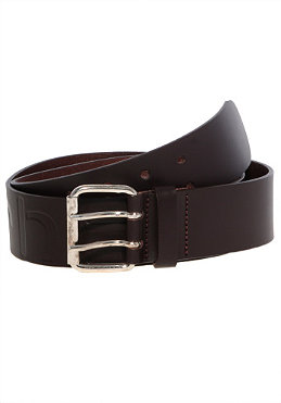 CARHARTT Military Belt dark brown/silver/silver