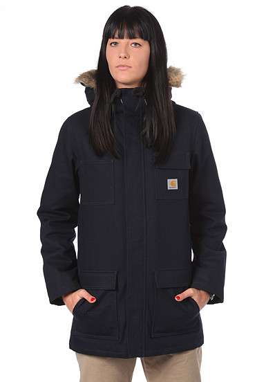 carhartt wip siberian parka jacke f r damen blau planet sports. Black Bedroom Furniture Sets. Home Design Ideas