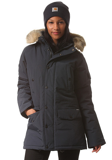 carhartt wip x anchorage parka jacke damen blau pid 33205204. Black Bedroom Furniture Sets. Home Design Ideas
