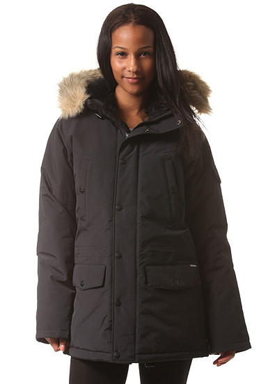 carhartt wip x anchorage parka jacke damen schwarz pid 33205203. Black Bedroom Furniture Sets. Home Design Ideas