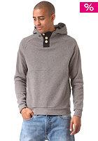 Basic Buttoned Hooded Sweat dark grey mel.