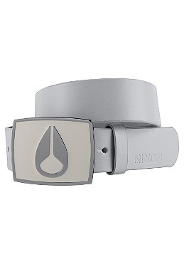 NIXON Enamel Icon Leather Belt natural suede