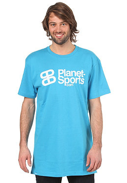 PLANET SPORTS Corporate Logo S/S Slimfit T-Shirt cyan/white
