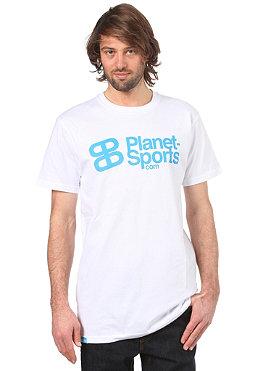 PLANET SPORTS Corporate Logo S/S Slimfit T-Shirt white/cyan