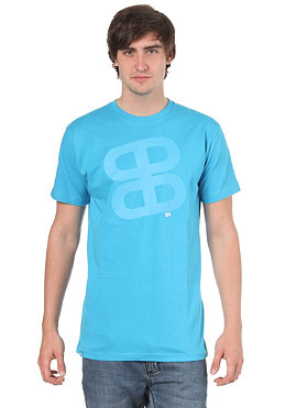 PLANET SPORTS Icon Print S/S Slimfit T-Shirt cyan/cyan